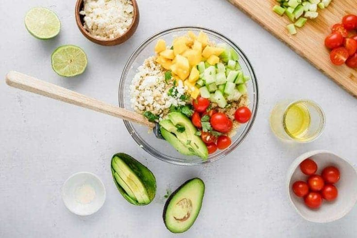 Lime and Mango Quinoa Salad (Gluten Free)