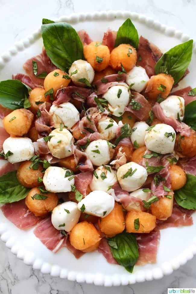 Melon and Prosciutto Caprese Salad