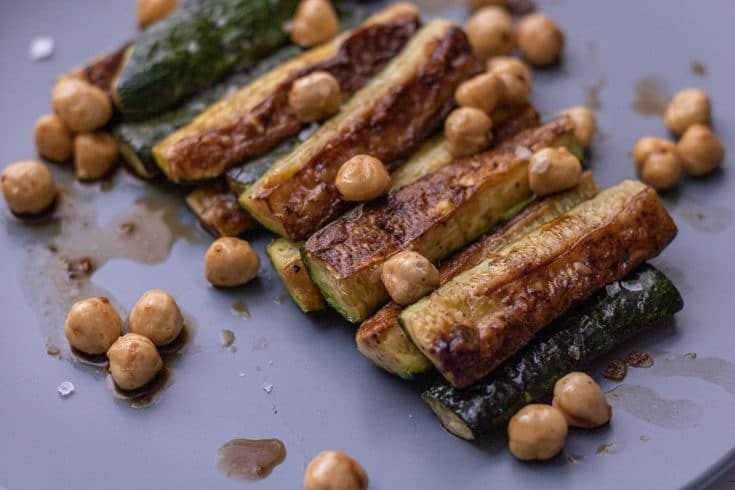 Roasted Zucchini with Balsamic and Hazelnuts