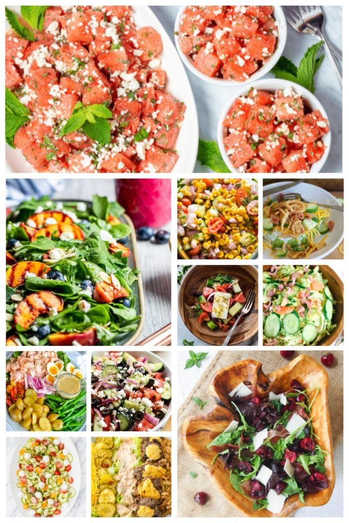 Summertime Salad Recipes Roundup
