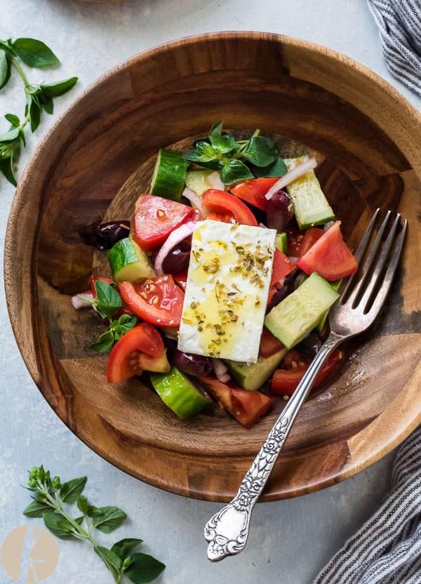 Horiatiki (Greek Village Salad)