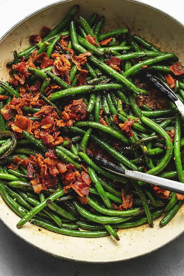 Keto Green Beans with Crispy Bacon