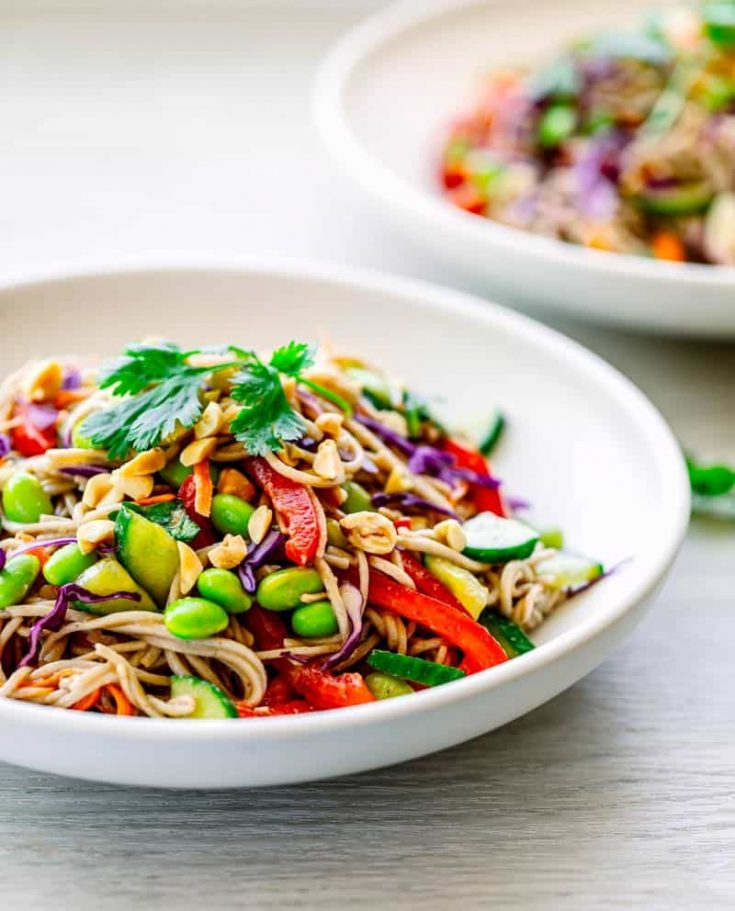 Soba Noodle Salad Recipe with Asian Salad Dressing