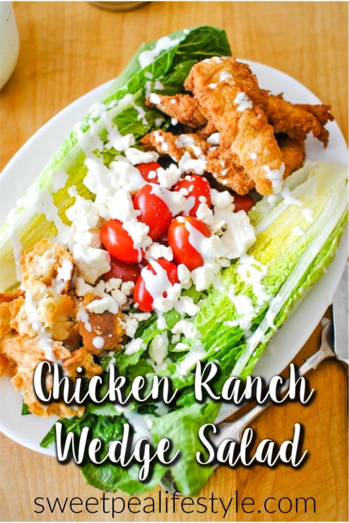 Chicken Ranch Wedge Salad Recipe Pin