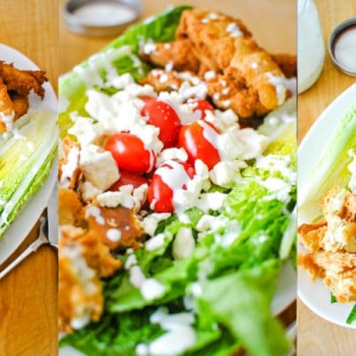 Chicken Ranch Wedge Salad recipe from Sweetpea Lifestyle