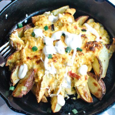 Pimento Cheese Chicken Dip Skillet Potatoes