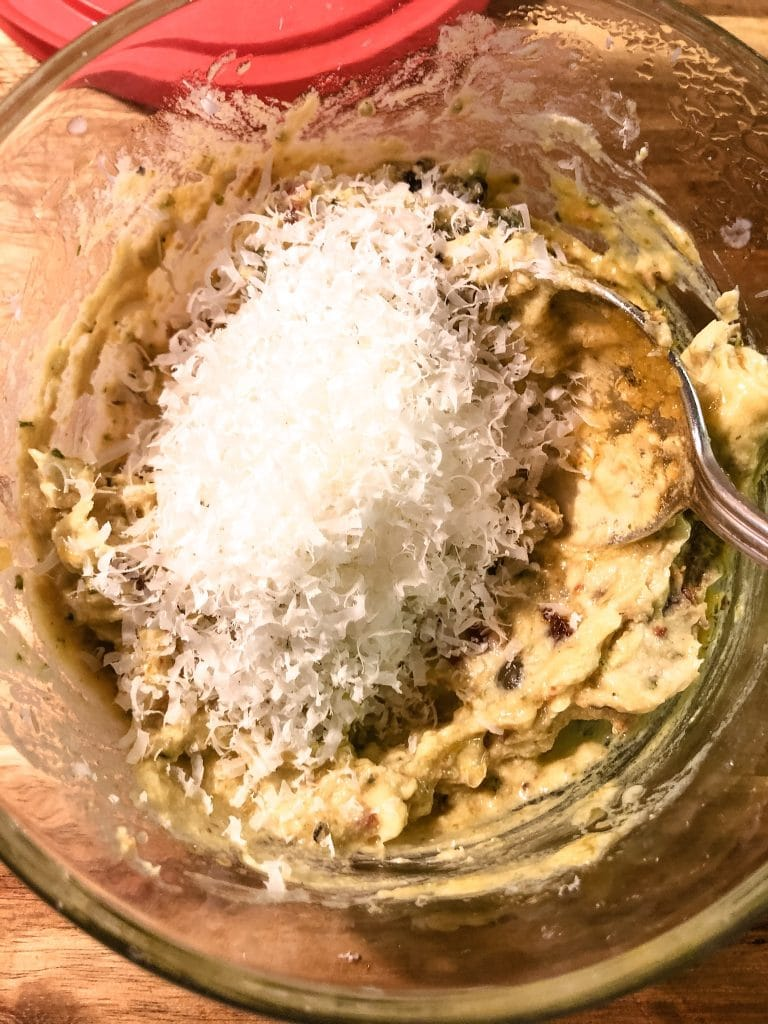 Grated Parmesan Cheese in a Bowl