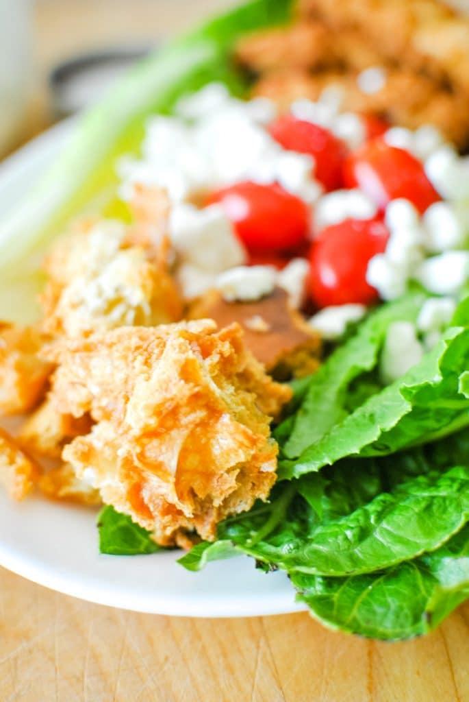 Homemade Croutons on Wedge Salad