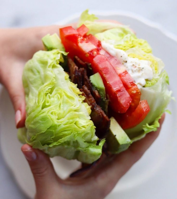 Wedge Salad Sandwich (Gluten Free, Low Carb)