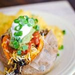 Quick Taco Sweet Potato
