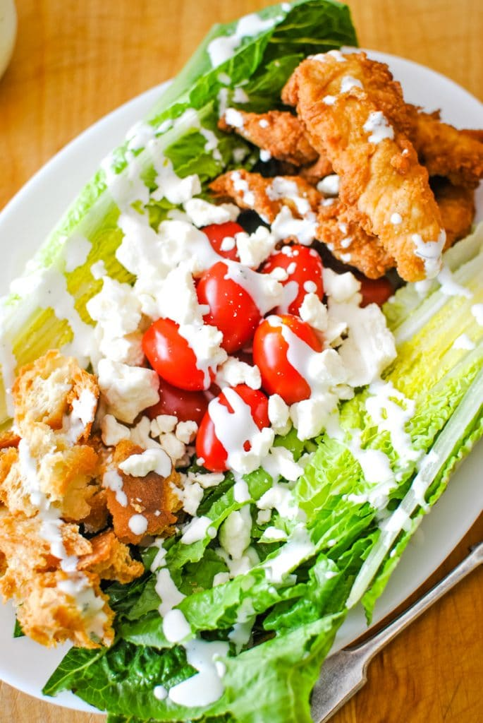Wedge Salad with Chicken and Ranch