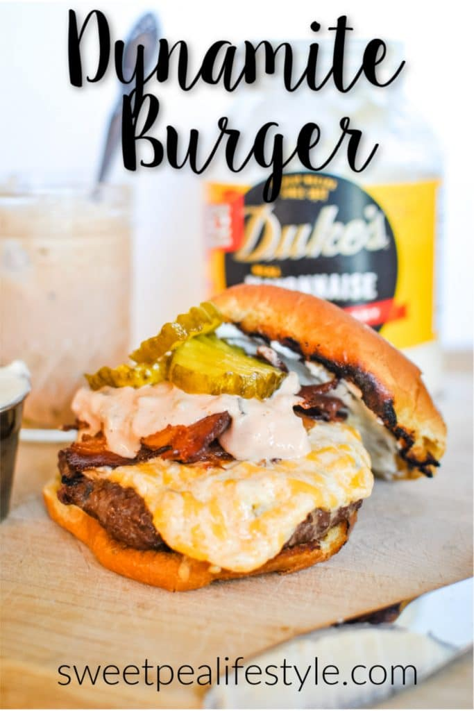 Dynamite Burger Recipe from Sweetpea Lifestyle