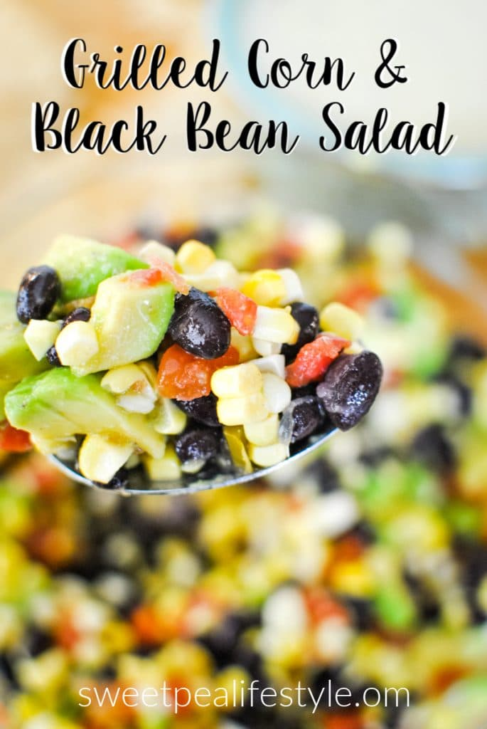 Grilled Corn and Black Bean Salad from Sweetpea Lifestyle