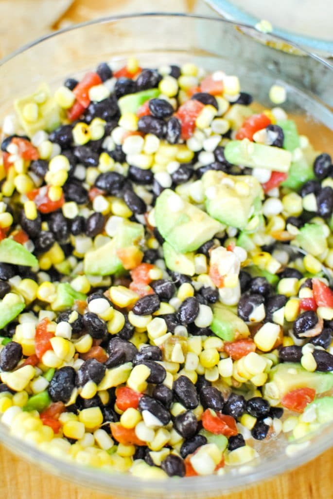 Easy Black Bean Salsa with Corn