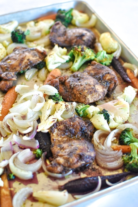 Balsamic Chicken Sheet Pan Supper with Veggies