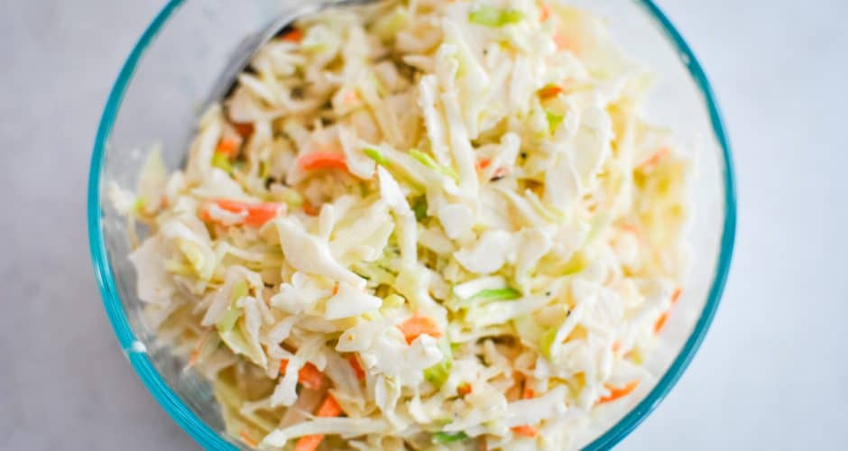 Easy Coleslaw with Homemade Dressing