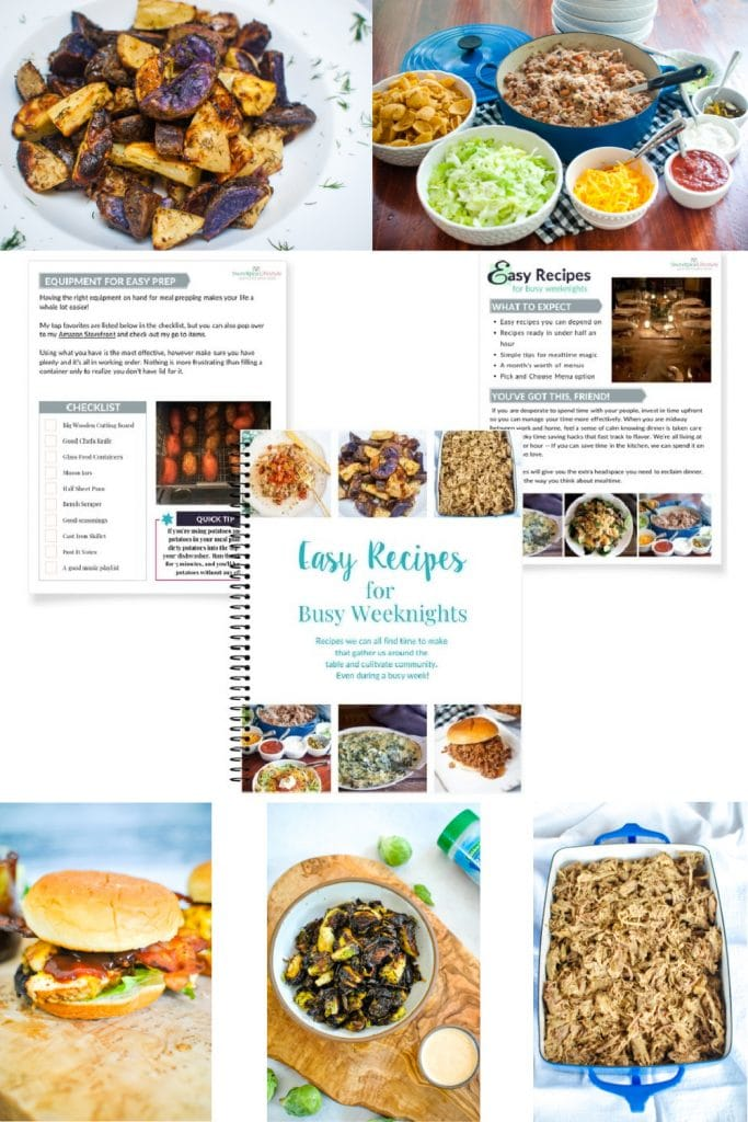 Easy Recipes for Busy Weeknights Digital Cookbook from Sweetpea Lifestyle