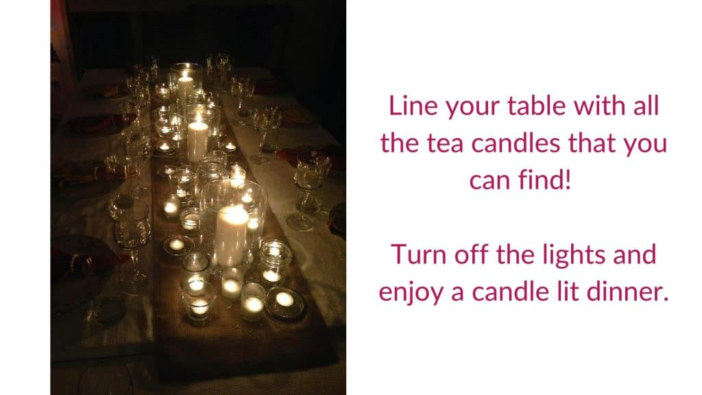 Candlelight Dinner Setting