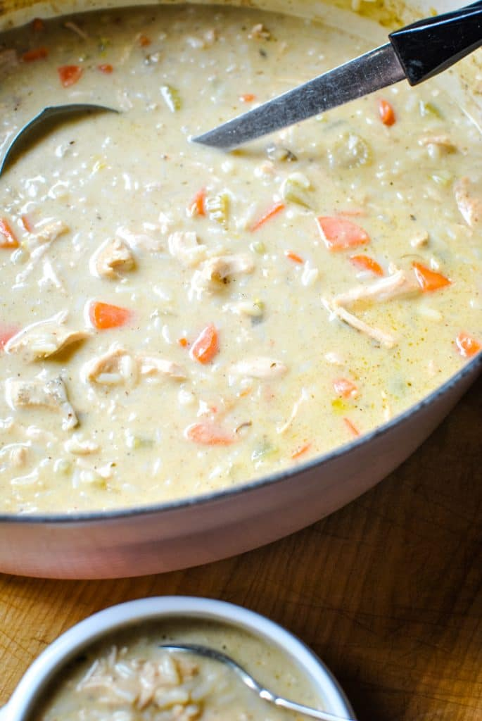 Leftover Turkey Soup with Rice