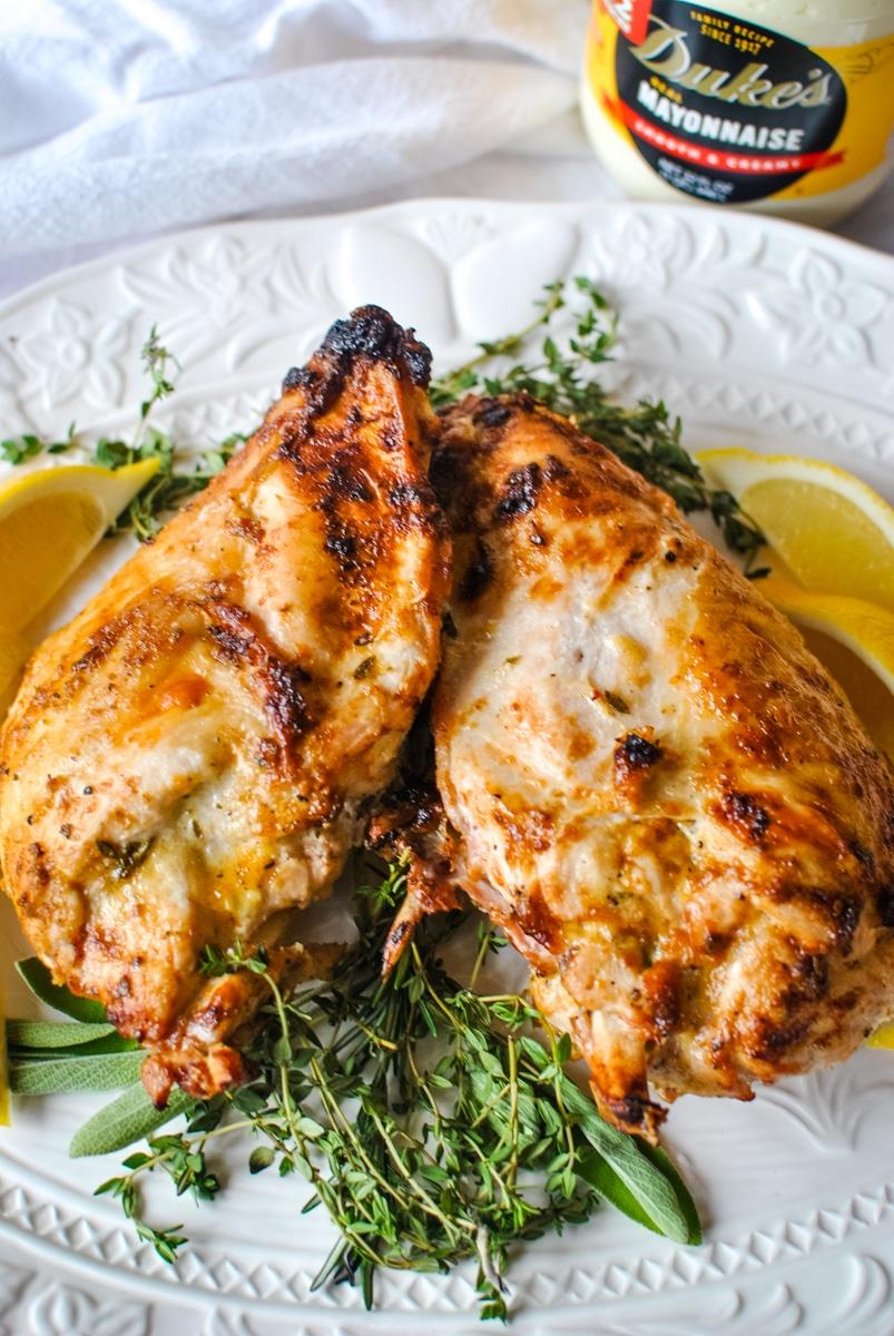 Turkey Breast with Garlic Mayo Glaze