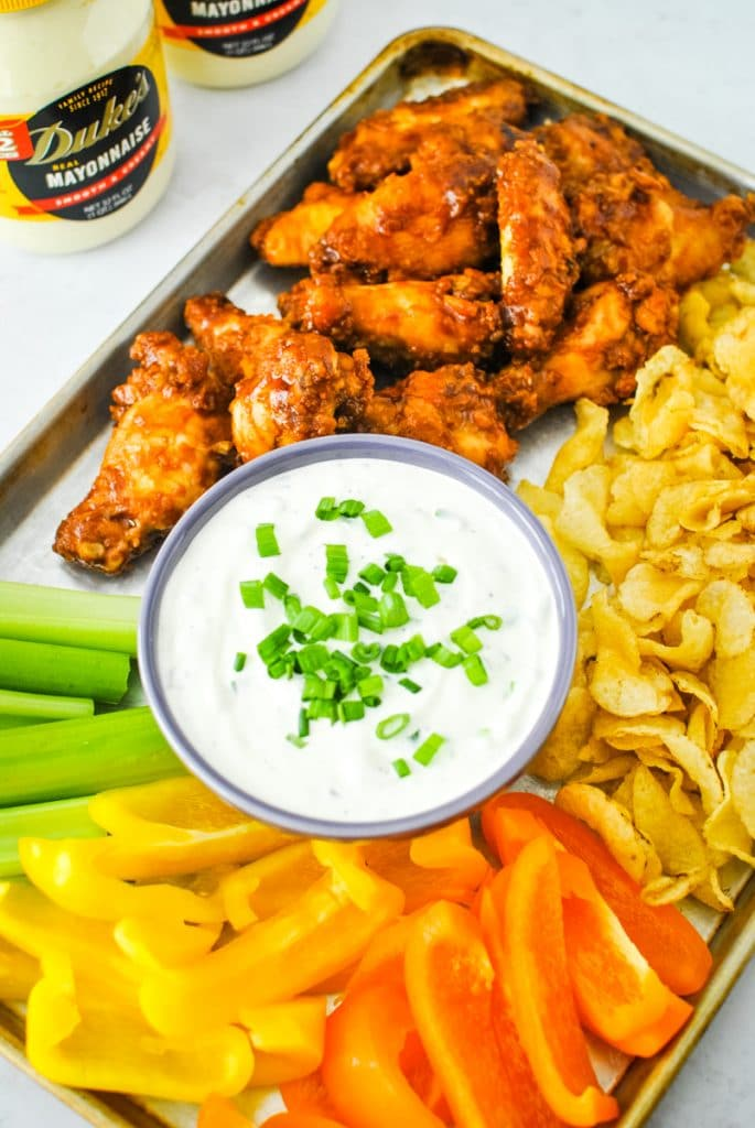 Game Day Snack Platter with Green Onion Dip