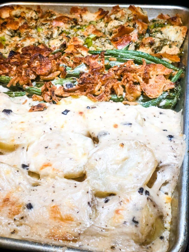 Potato Gratin for Sheet Pan Thanksgiving Dinner