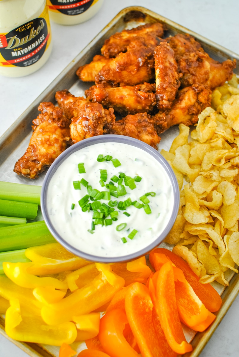 Snack Platter with Green Onion Dip