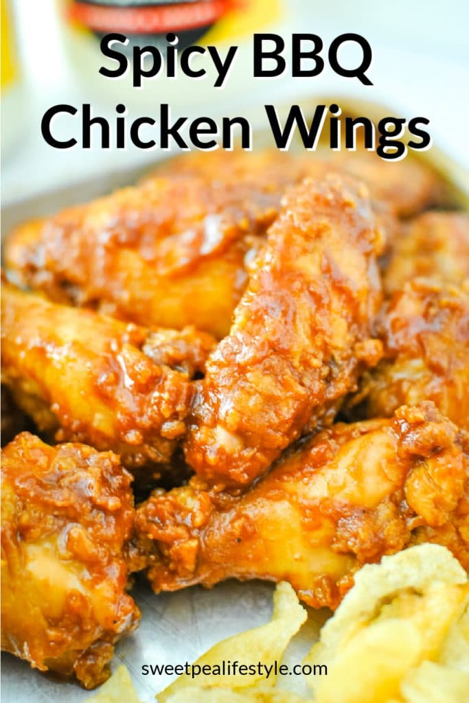 Spicy BBQ Chicken Wings from Sweetpea Lifestyle