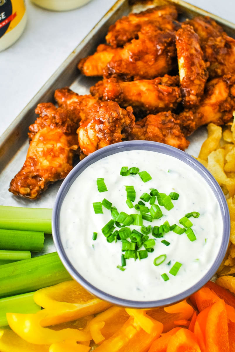 Green Onion Chip Dip is the three ingredient dip recipe you need for game day season! This super bowl appetizer is the quick recipe you've got to try!