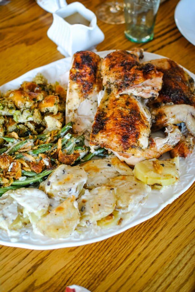 Thanksgiving Dinner for Four on two sheet pans