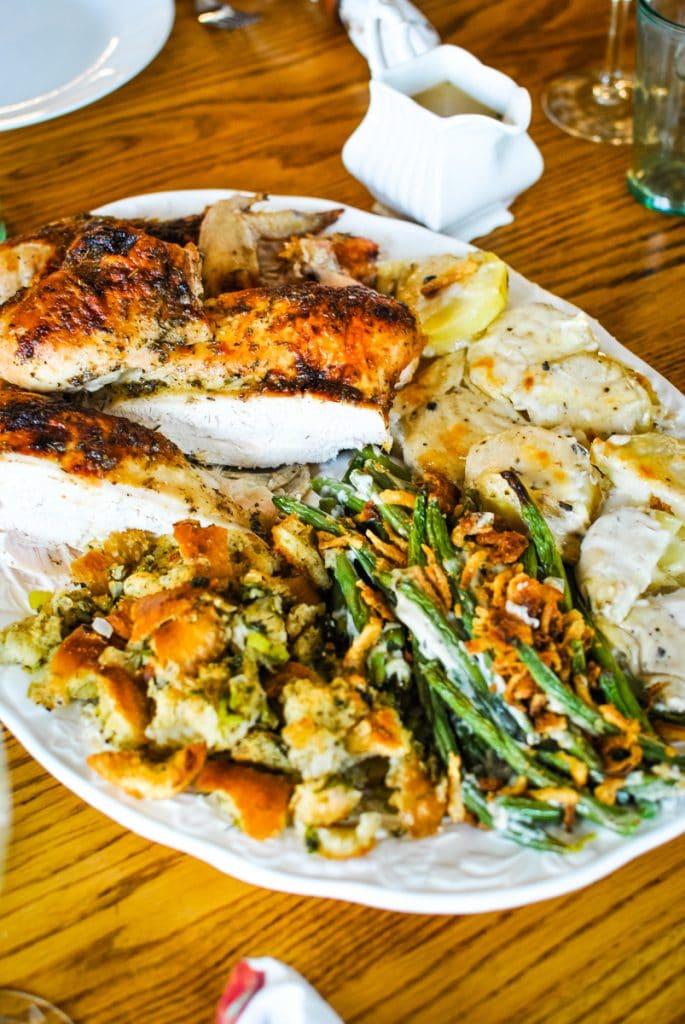 Thanksgiving Dinner on one platter
