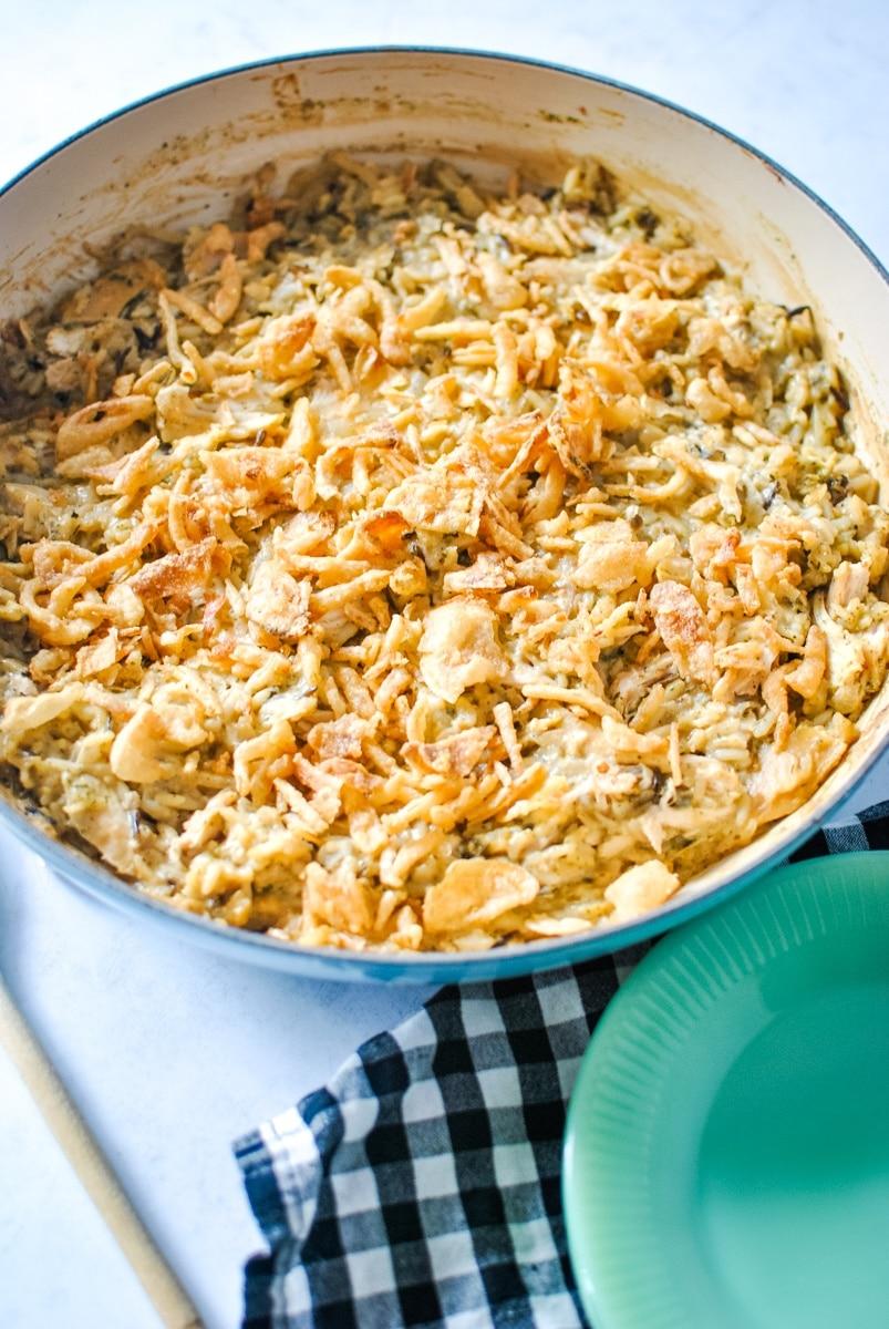 Creamy French Onion Chicken and Rice Casserole