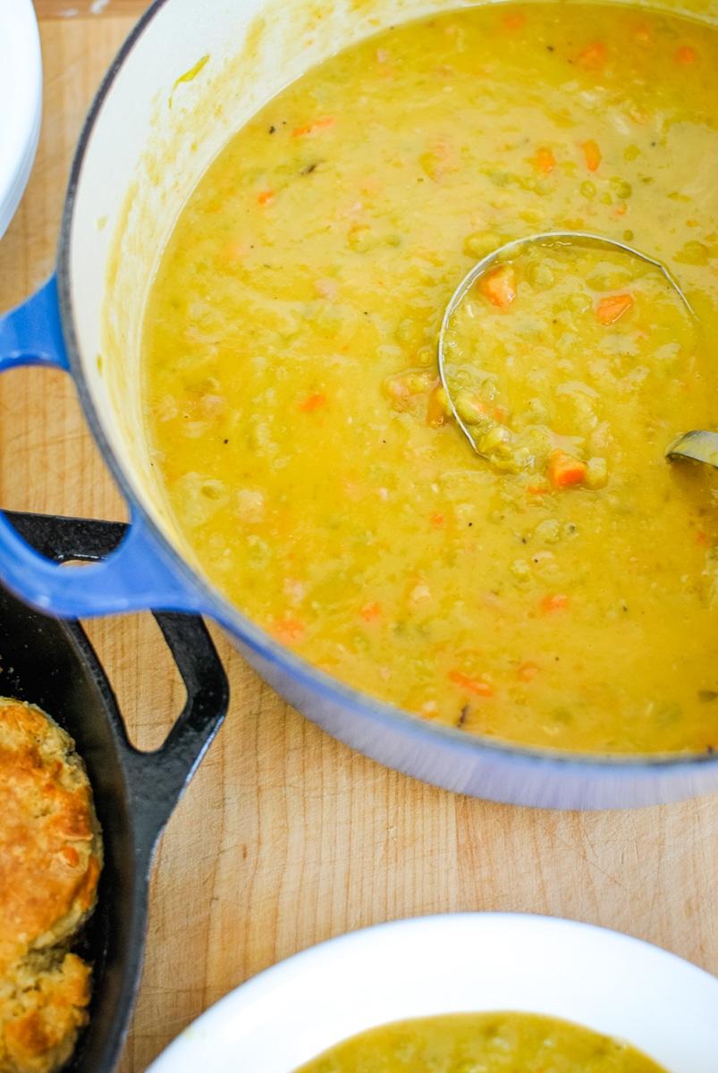 Easy Split Pea Soup Recipe Using Leftover Ham