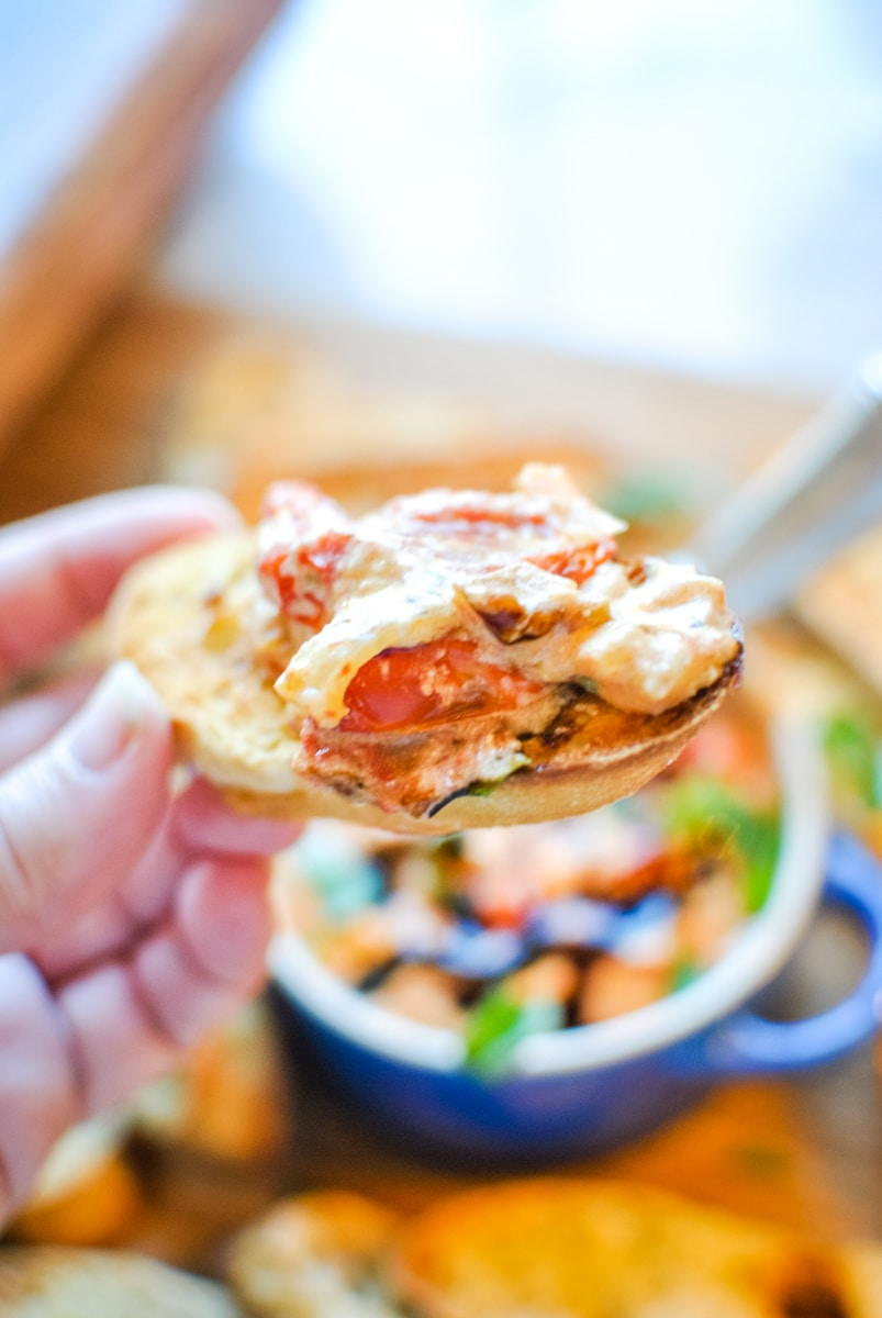 Goat Cheese with Tomato Bake