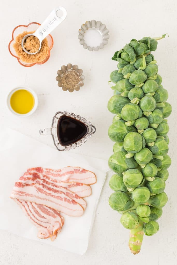 Ingredients for Brown Sugar Brussels Sprouts