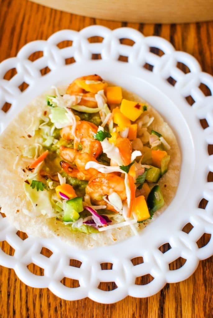 Air Fryer Shrimp Tacos with Fresh Mango Salsa