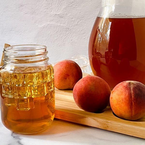 Iced Tea with Peaches