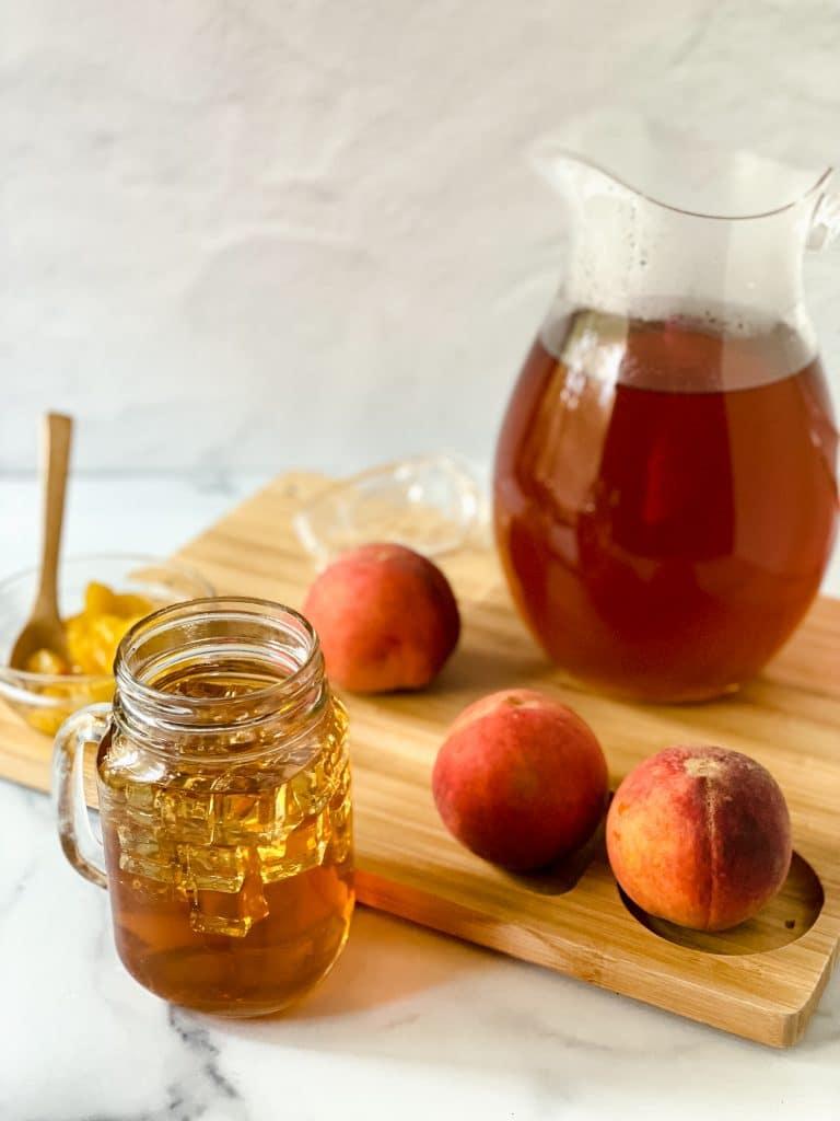 Peach Tea Made at Home