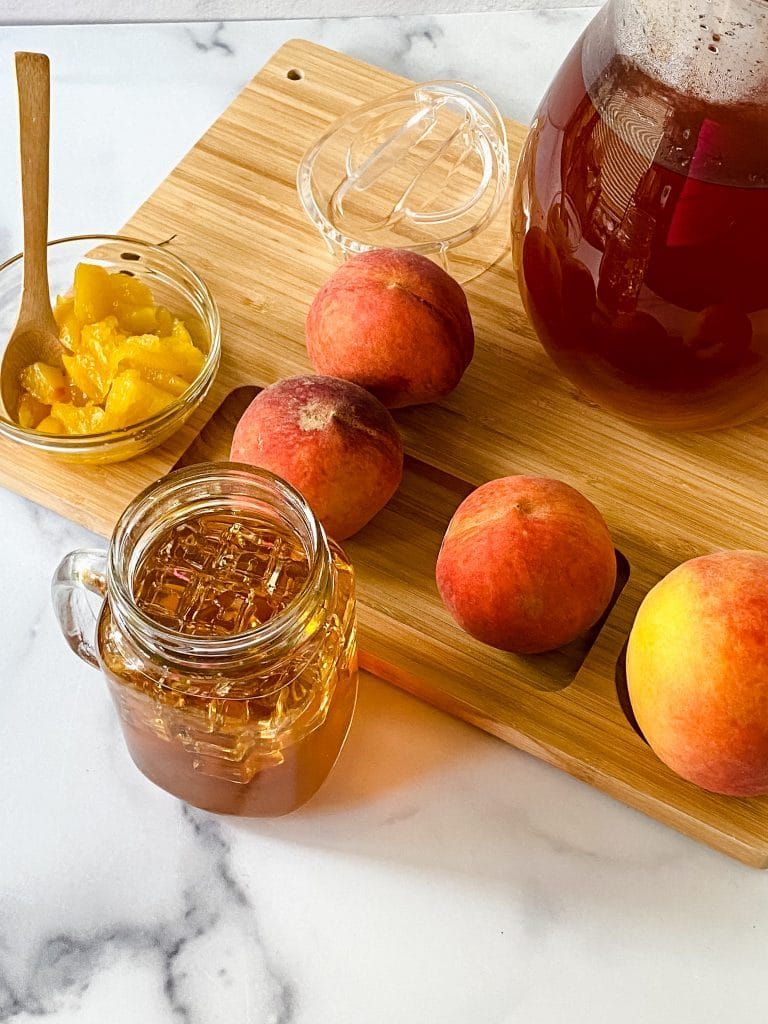 Sweet Tea with Peaches